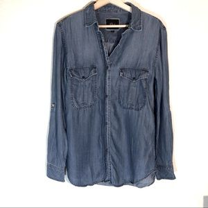 Rails Denim Marlow Snap Button Shirt Size Small